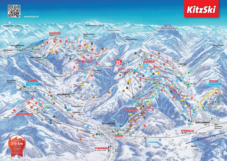 Pisteoverzicht Kirchberg – Kitzbühel- Jochberg - Pass Thurn
